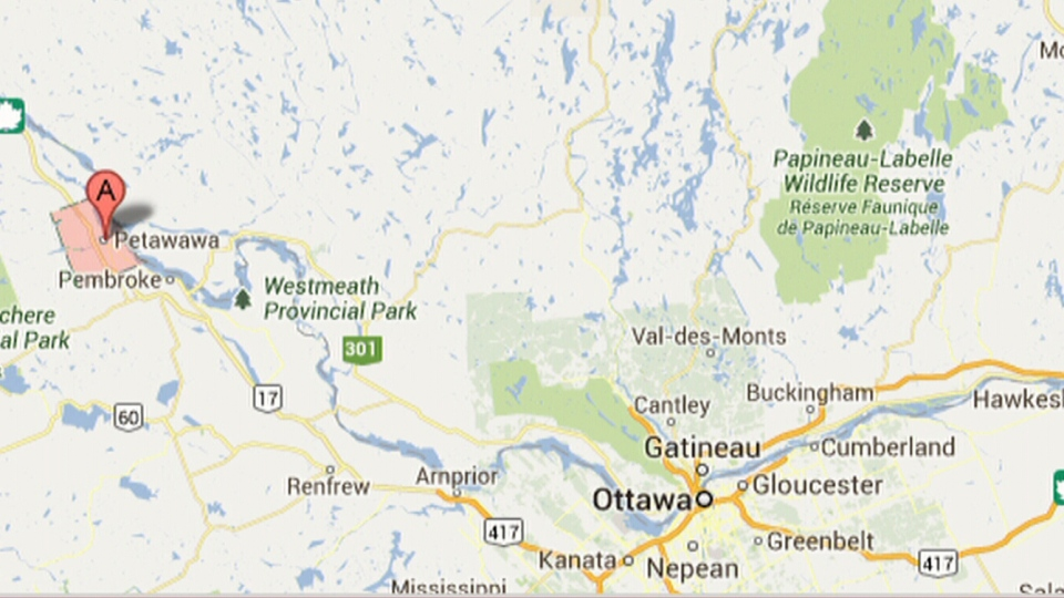 One person is reportedly dead following a stabbing in Petawawa, Ont., Friday, June 28, 2013.