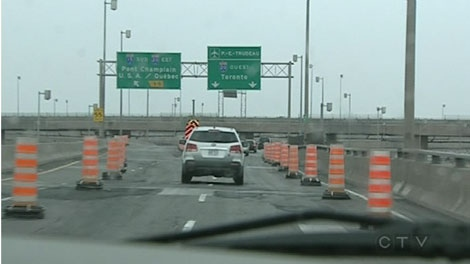 The Turcot will be reduced to one lane for several months.