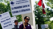 Canadian foreign service officers protest