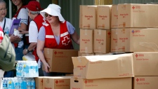 Red Cross volunteers in High River