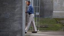 Barack Obama tours Robben Island