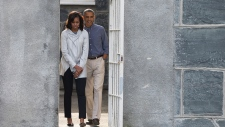 Barack and Michelle Obama in South Africa