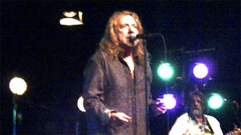 Robert Plant performs at Vancouver's QE Theatre on April 17, 2011. (CTV)