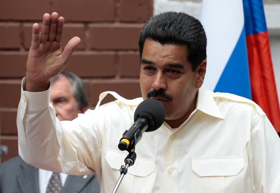 Venezuela's President Nicolas Maduro speaks as he attends a ceremony for naming a street after late Venezuelan President Hugo Chavez, in Moscow, Russia, on Tuesday, July 2, 2013. (AP / Ivan Sekretarev)