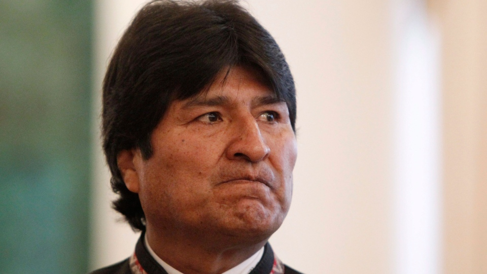 Bolivia's President Evo Morales looks on before attending the Gas Exporting Countries Forum (GECF) in the Kremlin in Moscow, Monday, July 1, 2013. (AP / Maxim Shemetov)