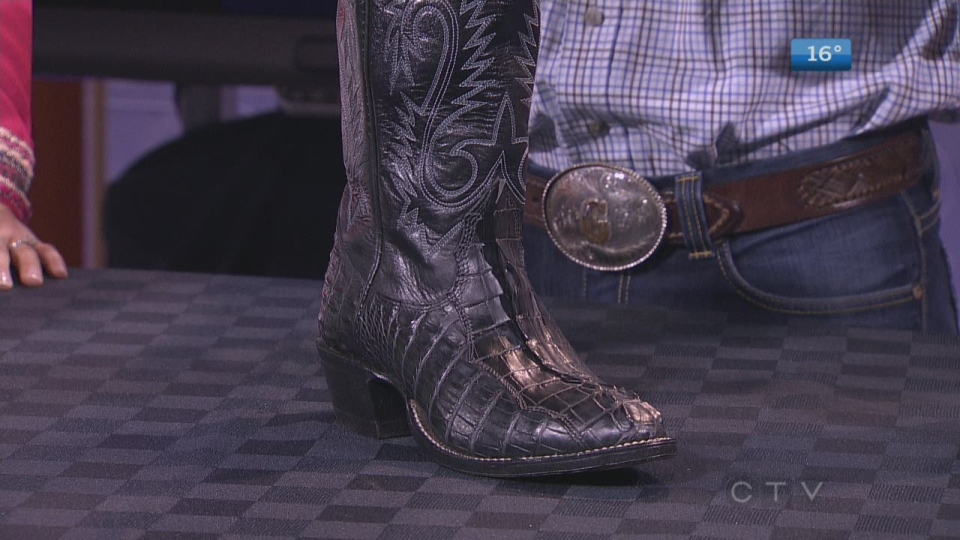 The Alberta Boot Company makes hand-made cowboy boots right here in Calgary.