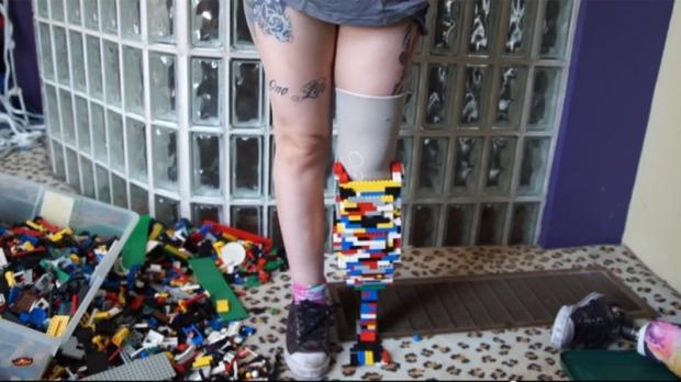 Woman makes Lego prosthetic leg