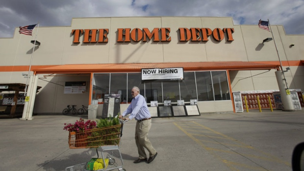 In this Feb. 20, 2011 photo, the outside of a Home Depot store is shown. (AP Photo/LM Otero)