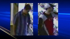 Two men sought by police for questioning.