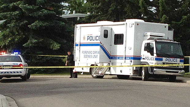 The Forensic Unit is parked outside the Powers' Braeside home on the morning of July 4, 2013.