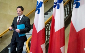 Montreal interim mayor Michael Applebaum arrives to announce his resignation in Montreal, Tuesday, June 18, 2013. (Paul Chiasson / THE CANADIAN PRESS)