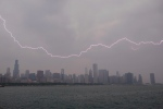 Lighting flashes over the Chicago skyline, Wednesday, June 12, 2013. (AP / Scott Eisen)