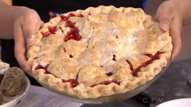 Butter Baked Goods: Strawberry Rhubarb Almond Pie