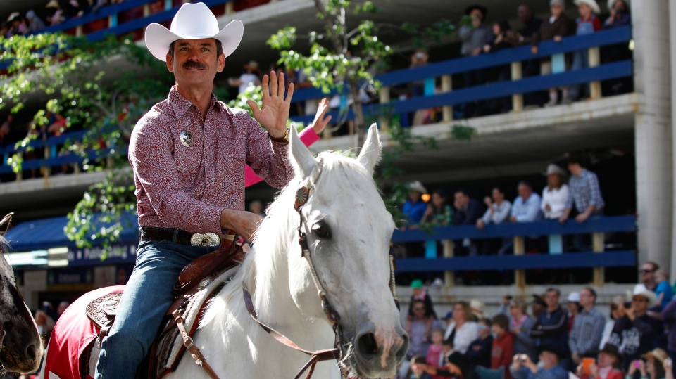 Chris Hadfield leads Calgary Stampede parade