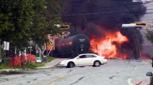 Quebec train derailment sparks massive explosion