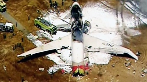 Plane crashes in San Francisco
