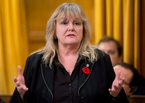 Conservative MP Kerry-Lynne Findlay rises during Question Period in the House of Commons in Ottawa, October 31, 2012. (Adrian Wyld / THE CANADIAN PRESS)