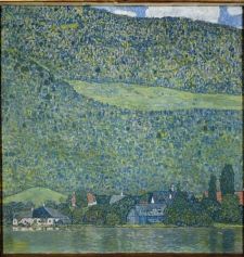 "This undated photo provided by the Museum der Moderne Salzburg shows the painting ""Litzlberg am Attersee"" by famed Austrian painter Gustav Klimt. (AP / Museum der Moderne Salzburg)"