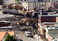 Train derailment in Quebec