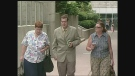 Christopher Gale arrives at the courthouse in London, Ont. on Monday, July 8, 2013.