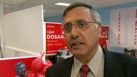 Vancouver South Liberal candidate Ujjal Dosanjh speaks to CTV News on Friday, April 22, 2011.