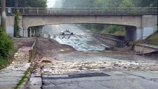 Toronto flooding Dixie Road storm