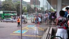 Port Credit GO station commuters