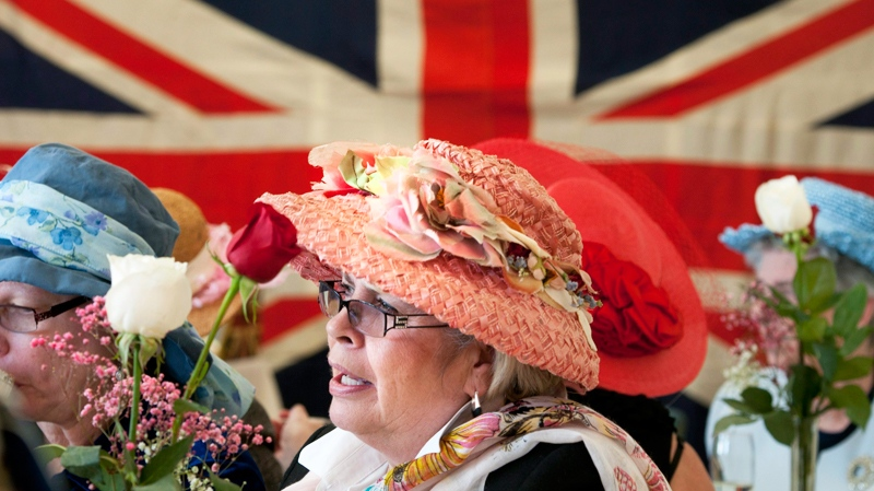 A royal wedding tea at St. Matthews on the Plains Anglican Church in Burlington in advance of Kate Middleton and Prince William's wedding.(The Canadian Press / John Rennison)