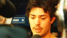 Carey Price said that the Canadiens are in the same situation the Bruins found themselves in recently. (April 22, 2011)