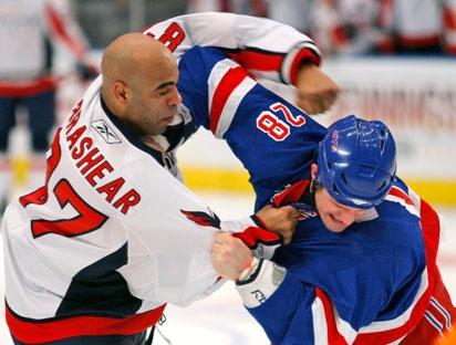 Former NHL enforcer Donald Brashear is now working at a Tim Hortons in Quebec City