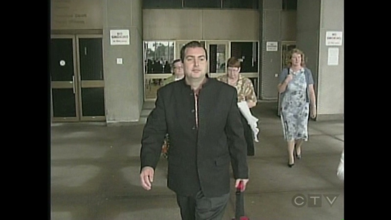 Christopher Gale is seen outside the courthouse in London, Ont. on Wednesday, July 10, 2013.