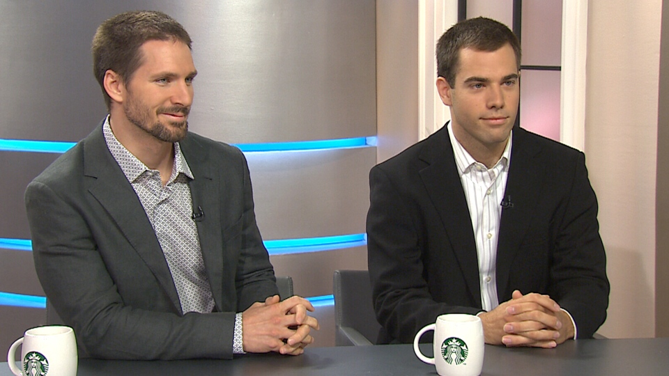 Cameron Robertson, right, and Todd Reichert appear on Canada AM from CTV studios in Toronto, Thursday, July 11, 2013.