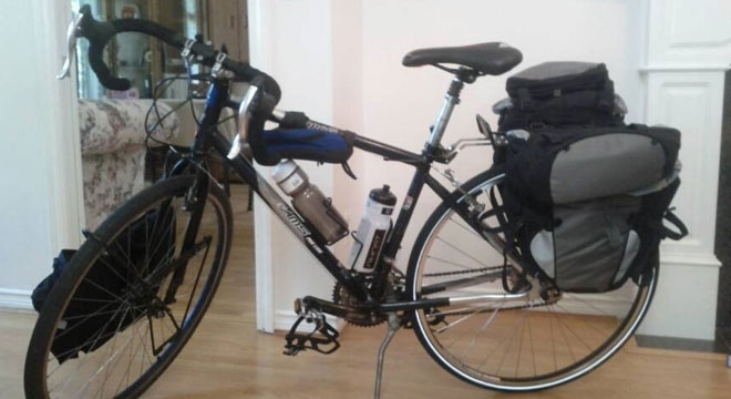 Bike stolen on cross-country fundraising ride