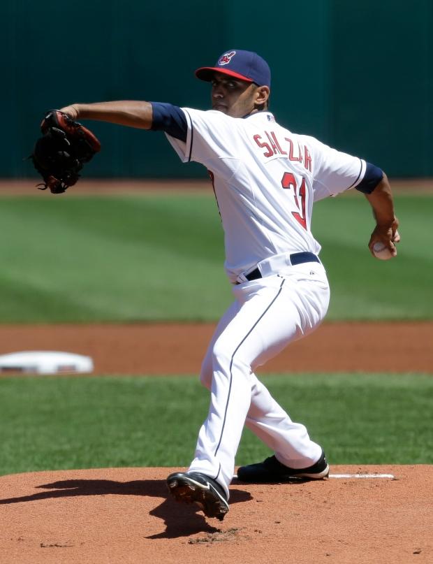 Cleveland Indians starting pitcher Danny Salazar