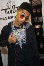 FILE - In this Jan. 10, 2013 publicity image originally released by Nikura USA, Hip hop artist, Lil Twist, born Christopher Moore, debuts his new headphone collection at International CES 2013 in Las Vegas, Nev.  (AP Photo/ Nikura USA, Al Powers, File)