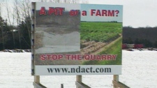 Opponents say the quarry planned for a site on Highway 124 near Shelburne, Ont.,  would destroy prime farmland in Ontario's potato-growing region.