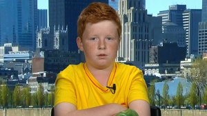 Oisin Millea appears on Canada AM, Friday, July 12, 2013.