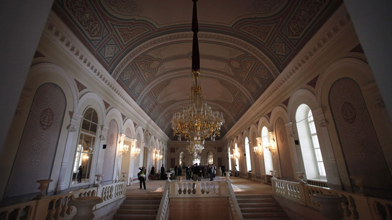 A hall inside the building of the Bolshoi Theatre in Moscow, Monday, April 25, 2011. (AP / Alexander Zemlianichenko)