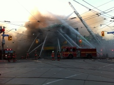 Firefighters battling four-alarm blaze in city's east end