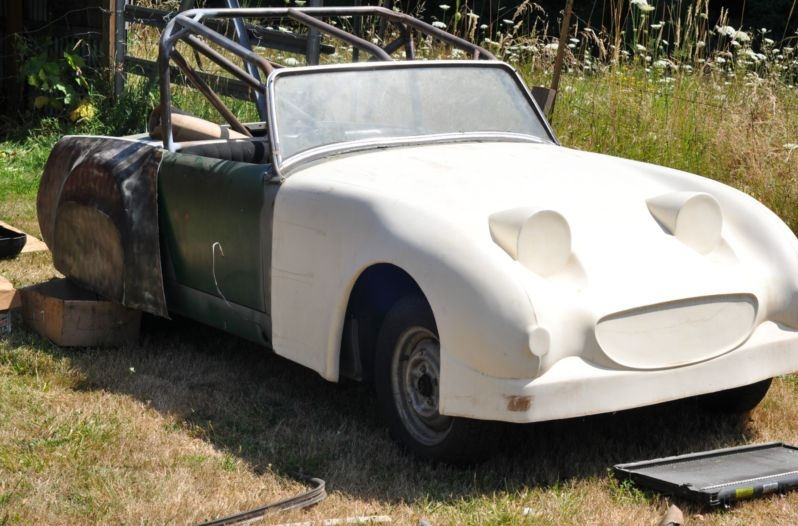 This classic 1962 Austin Healy roadster -- now dubbed Frankenspite -- was purchased by a U.S. toddler on eBay while she was playing with her dad's smartphone. In serious need of care and attention, the 14-month-old's winning bid of just $202 plus delivery ($225 in total) didn't exactly break the bank. (Screengrab/eBay)