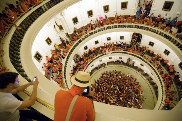 Texas abortion bill protest