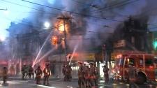 East Chinatown blaze destroys building
