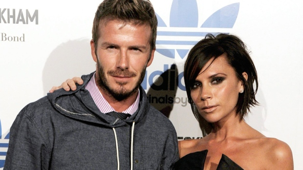 David and Victoria Beckham arrive to celebrate the launch of the Adidas Originals by Originals David Beckham clothing line, Wednesday, Sept. 30, 2009, in Los Angeles. (AP / Chris Pizzello)
