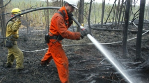 Since last Saturday, 64 fires have been recorded by the Societe de protection des forets contre le feu in the province. FILE PHOTO