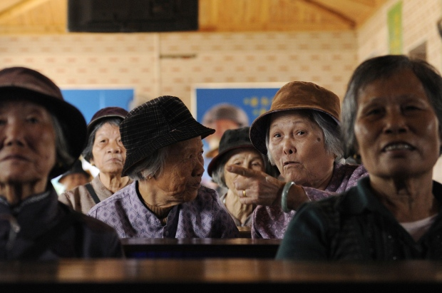 Elderly Chinese women