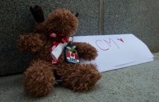 Small memorial for Canadian actor Cory Monteith