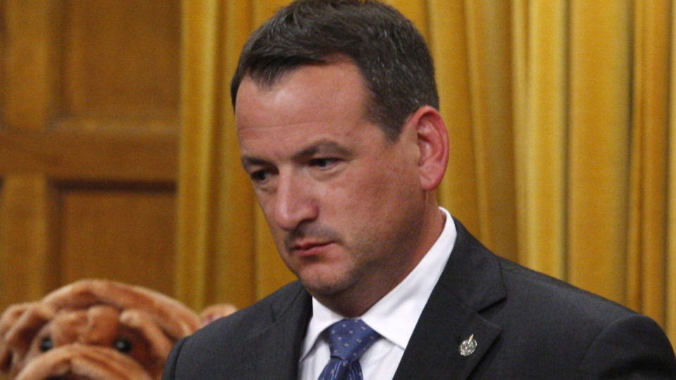 Conservative MP Greg Rickford stands to vote on budget bill C38 in the House of Commons Thursday , June 14, 2012. Rickford was named Minister of State (Science and Technology / Fednor). (Adrian Wyld  / THE CANADIAN PRESS)