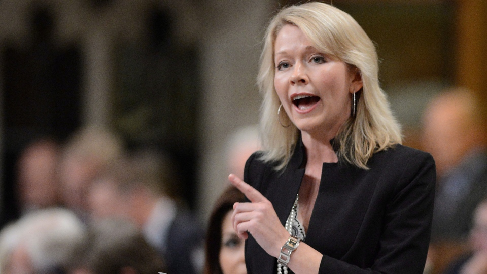 Conservative MP Candice Bergen responds to a question during question period in the House of Commons on Parliament Hill in Ottawa on Thursday, June 13, 2013. Candice Bergen was named Minister of State (Social Development). (Sean Kilpatrick / THE CANADIAN PRESS)