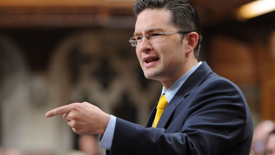 Conservative MP Pierre Poilievre responds to a question during question period in the House of Commons on Parliament Hill in Ottawa on Thursday, Sept. 20, 2012. Pierre Poilievre was named Minister of State. ( Sean Kilpatrick  / THE CANADIAN PRESS)