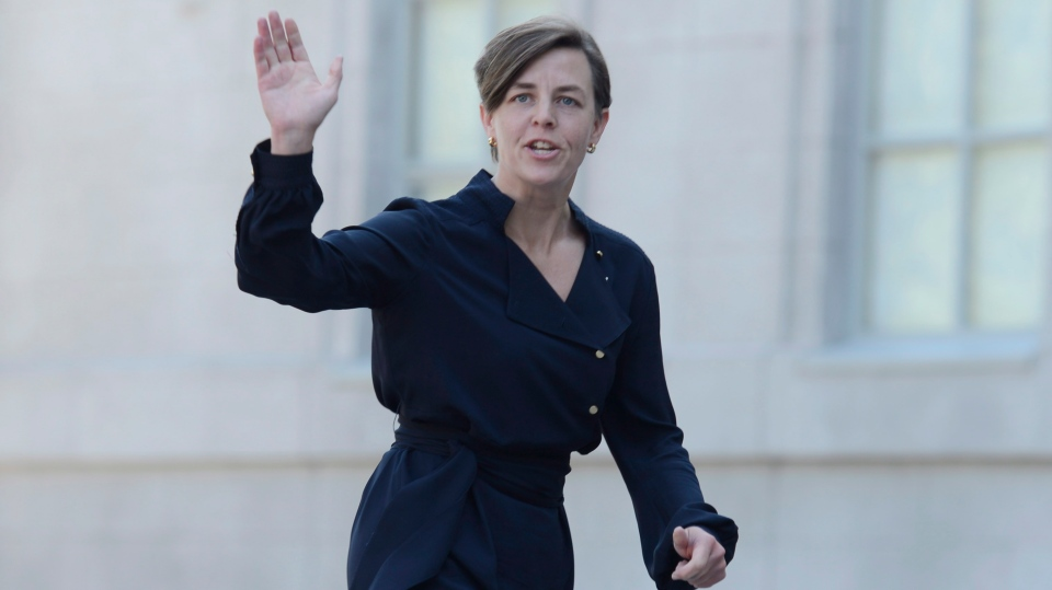 Conservative MP Kellie Leitch at Rideau Hall in Ottawa, Monday, July 15, 2013. According to the Prime Minister's Office Twitter feed, Leitch has been named the Minister of Labour and Minister of Status of Women. (Adrian Wyld / THE CANADIAN PRESS)